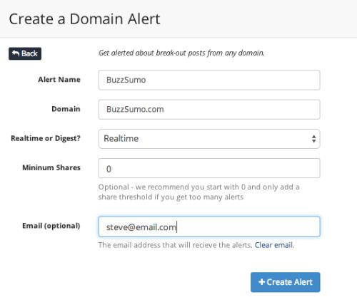 competitor domain alert
